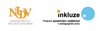 Logo Národní institut pro další vzdělávání, Podpora společného vzdělávání v pedagogické praxi.